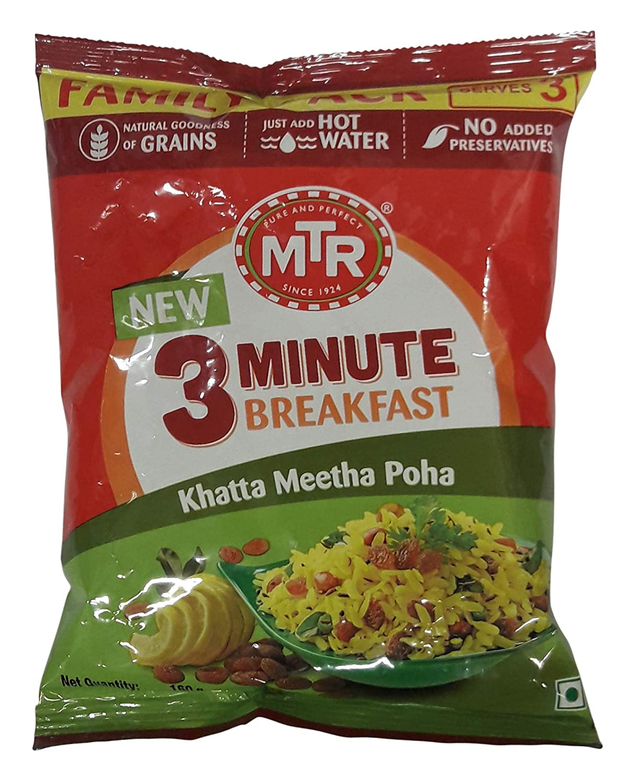 Mtr 3 Minute Breakfast Khatta Meetha Poha 160g