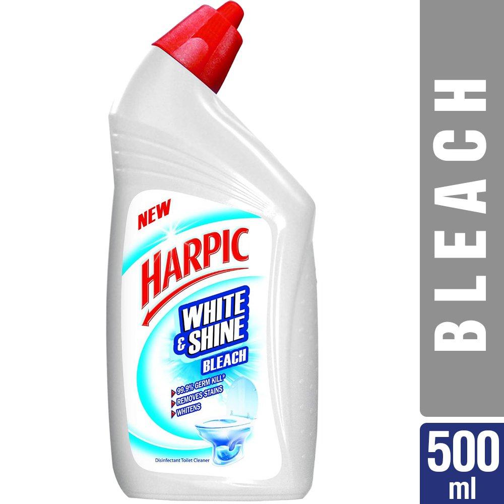 Harpic White and Shine Bleach Toilet Cleaner 500ml