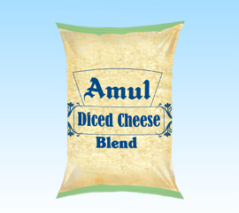 Amul Diced Blend Cheese 1kg