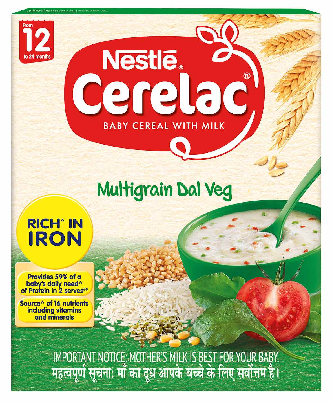 Nestle Cerelac Baby Cereal With Milk Multi Grain Dal Veg 300g