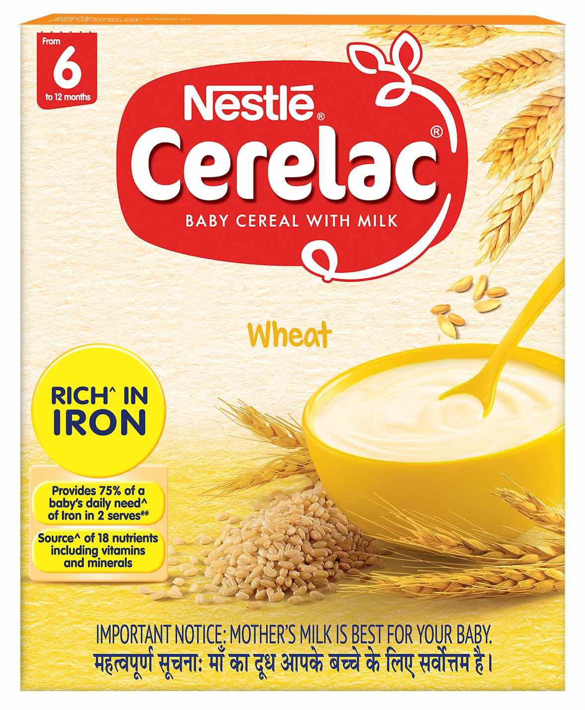 Nestle Cerelac Baby Cereal With Milk Wheat 300g