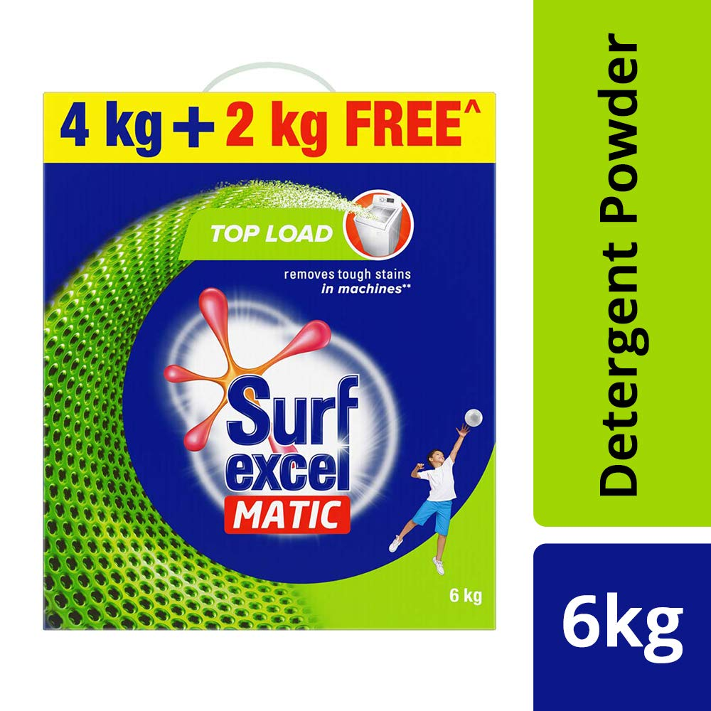 Surf Excel Matic Top Load Detergent Powder 4Kg with Free 2Kg