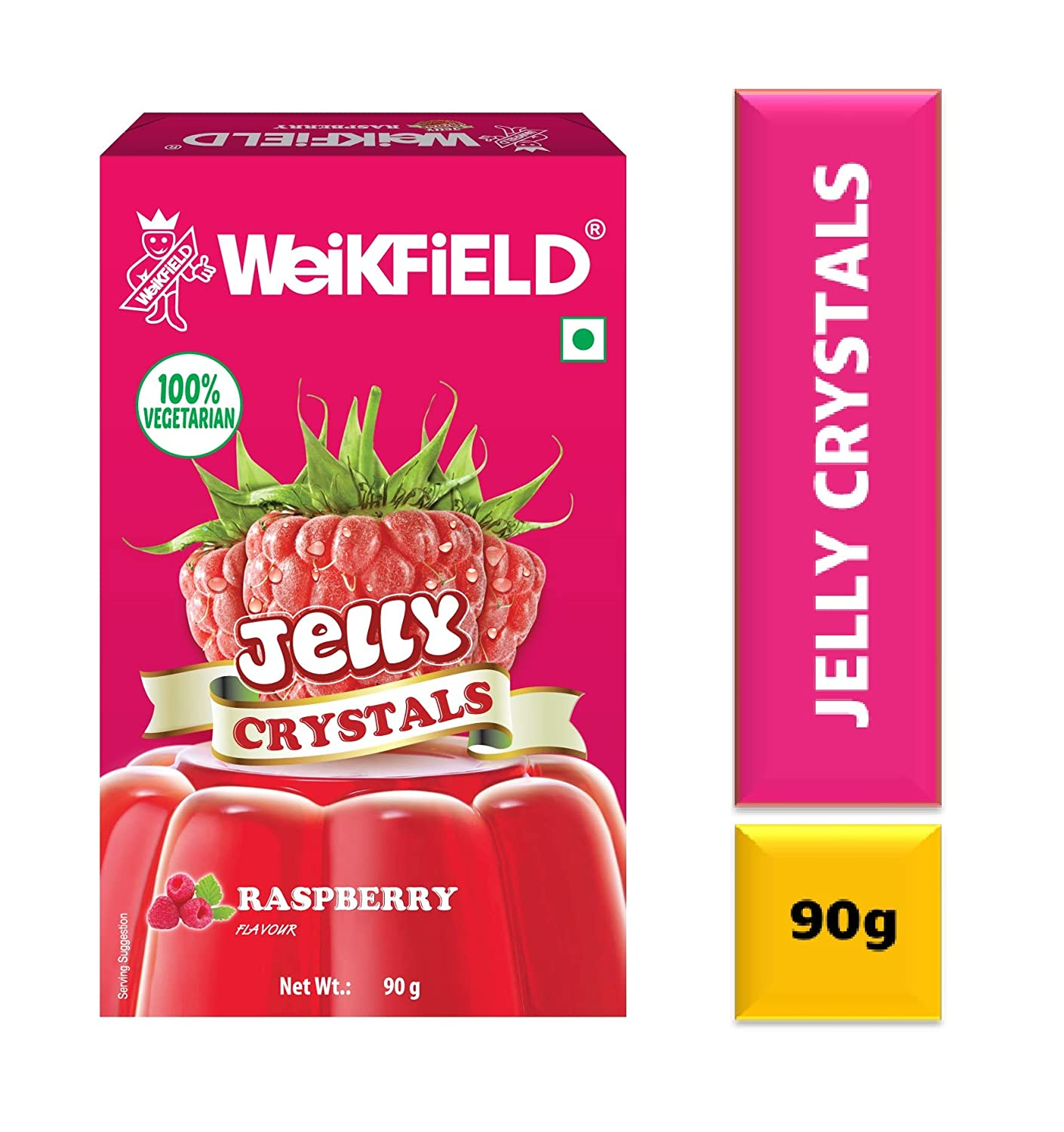 Weikfield Jelly Crystals Raspberry 90g