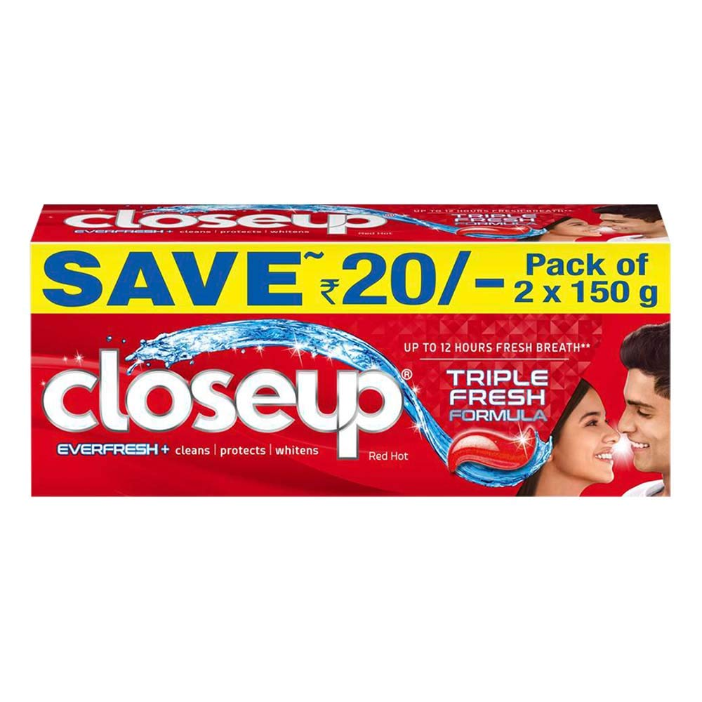 Closeup Ever Fresh Red Hot Gel Toothpaste 2x150g