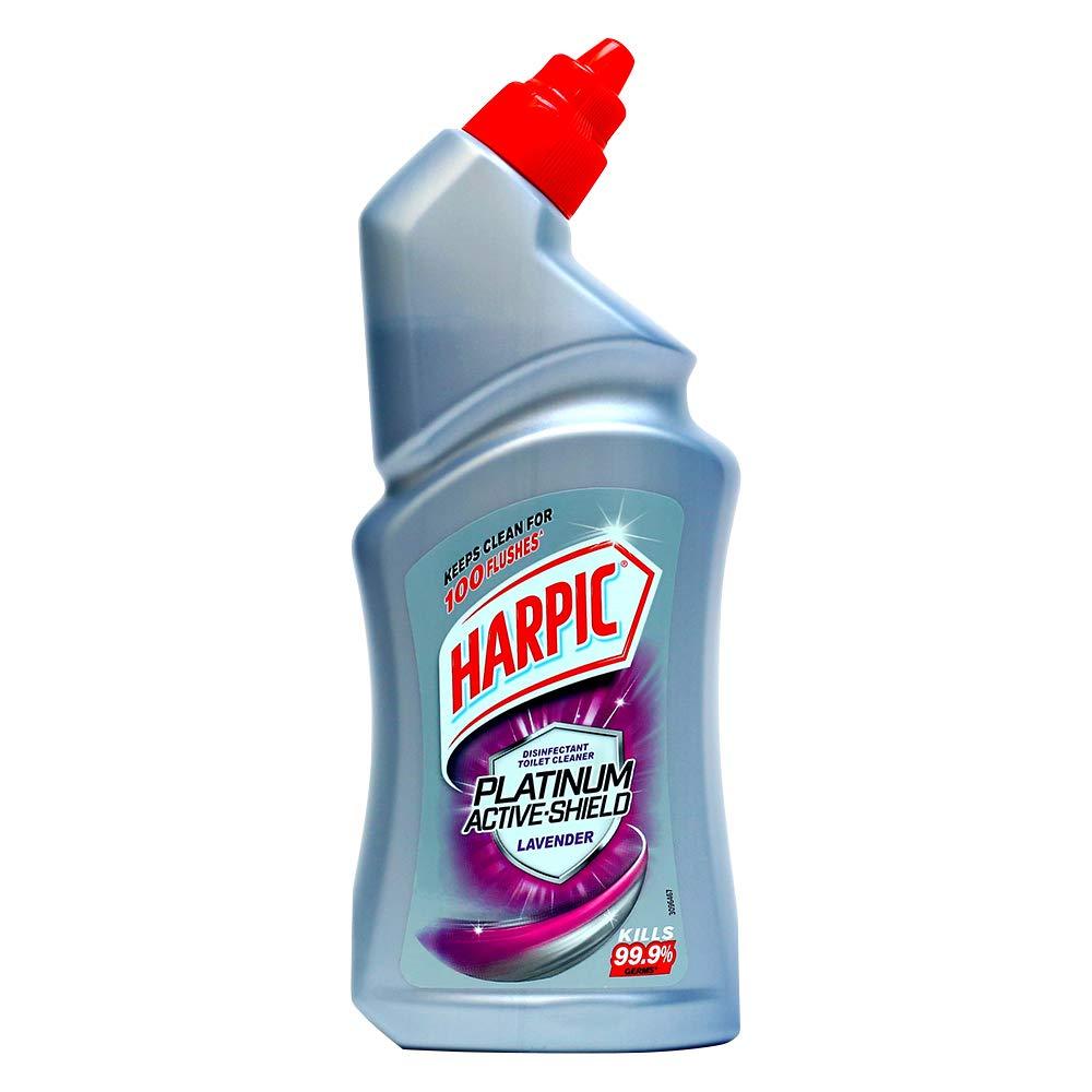 Harpic Platinum Active Shield Lavender Toilet Cleaner 500ml