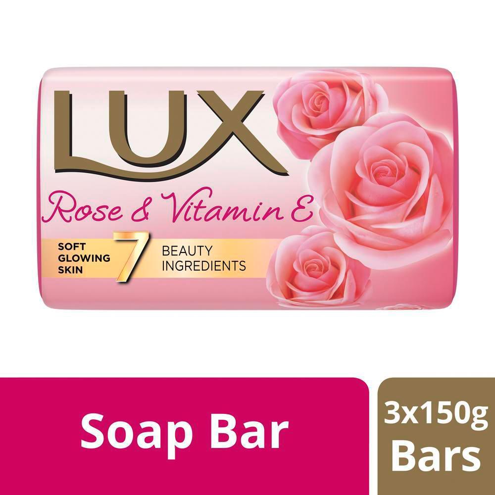 Lux Soft Glow Rose & Vitamine Soap 3X150g