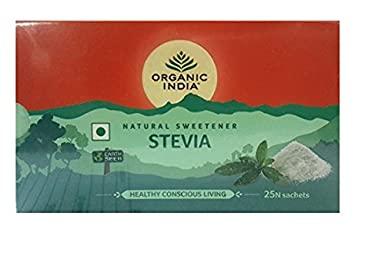 Organic India Stevia 25 Sachets 75g