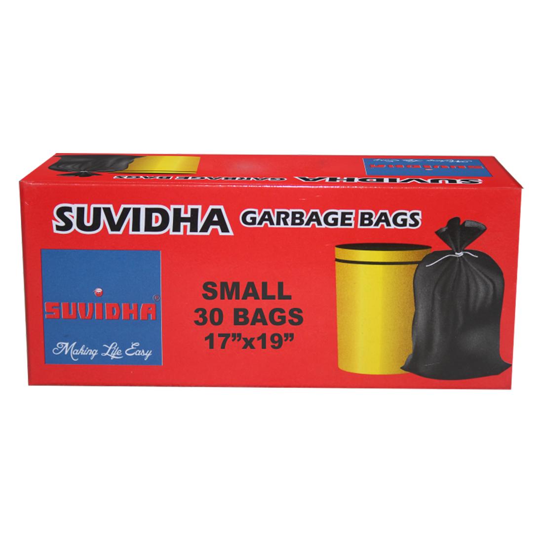 Suvidha Garbage Bag Size 17 X 19 30Bags