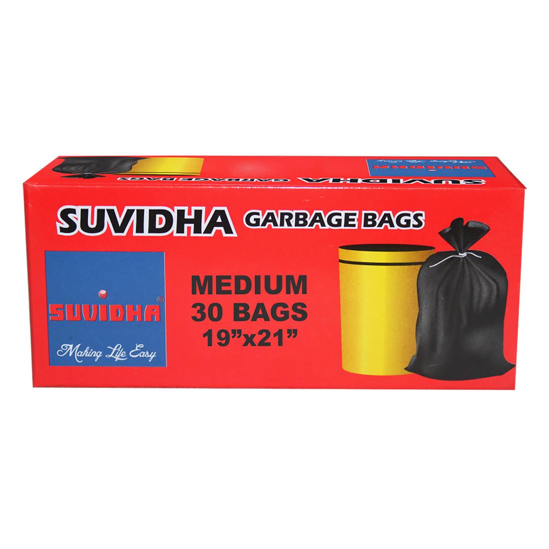 Suvidha Garbage Bag Size 19 X 21 30Bags