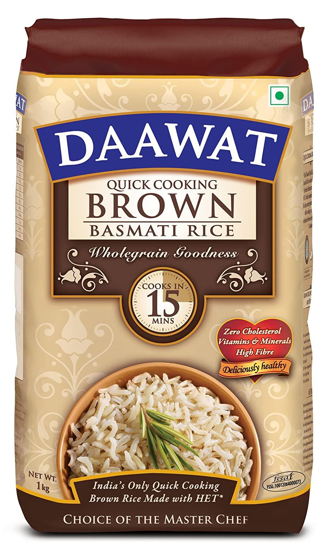 Daawat Brown Basmati Rice 1kg
