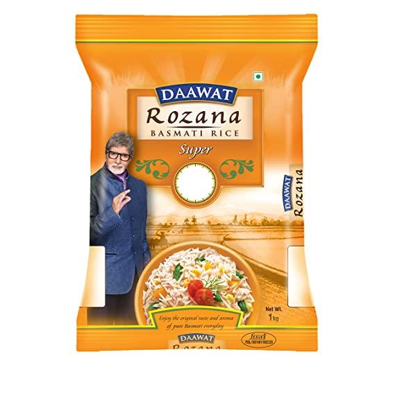 Daawat Rozana Super Basmati Rice 1kg