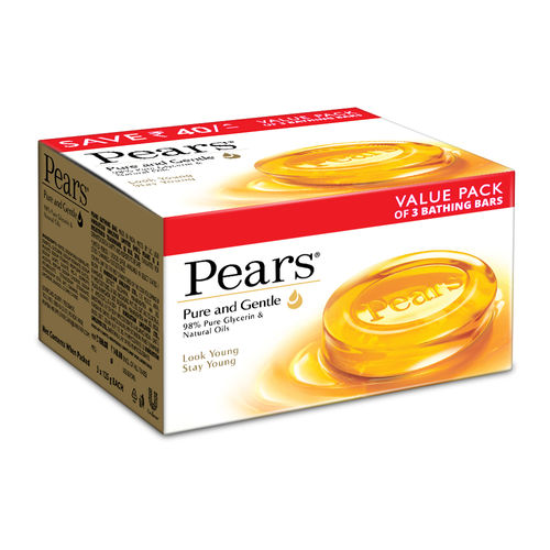 Pears Pure & Gentle Bathing Bar 125g Pack Of 3Pcs