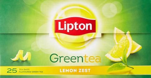 Lipton Lemon Zest Green Tea Bags 25Pcs