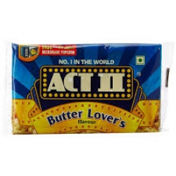 Act ll Microwave Popcorn Butter Lovers 99g