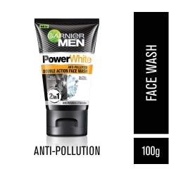 Garnier Men Power White Anti-Pollution Double Action Facewash 100g