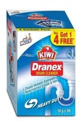 Kiwi Dranex Drain Cleaner 50g Pack of 6Pcs