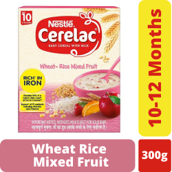Nestle Cerelac Baby Wheat Rice Mixed Fruit With Milk 300g