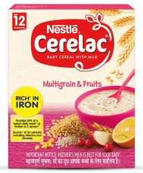 Nestle Cerelac Baby Cereal With Milk Multi Grain & Fruits 300g