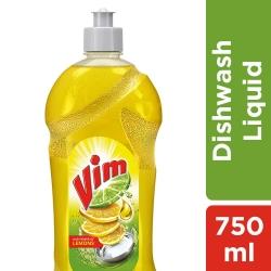 Vim Dishwash Liquid Gel Lemon 750ml