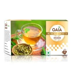 Gaia Green Tea Moringa Infusion 25 Tea Bags
