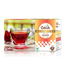 Gaia Green Tea Hibiscus Infusion 25 Tea Bags