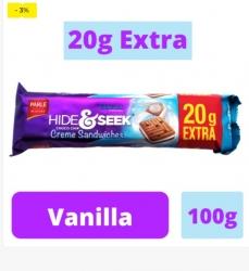 Parle Hide & Seek Choco Chips Vinilla Cream Sandwich 100g