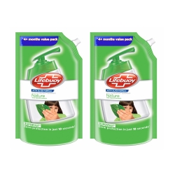 Lifebuoy Nature Germ Protection Hand Wash 750ml Pack of 2Pcs