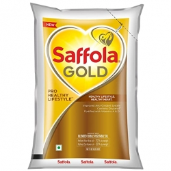 Saffola Gold Pro Healthy Lifestyle Edible Oil Pouch 1Ltr