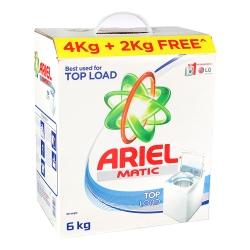 Ariel Matic Top Load Detergent Powder 4kg (Get Extra 2 kg Free)