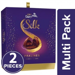 Cadbury Dairy Milk Silk Pralines Classic & Dark 176g
