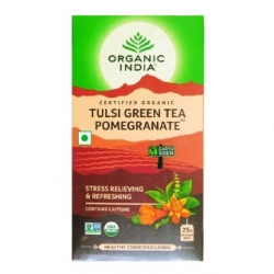 Organic India Pomegranate Tulsi Green Tea 25 Tea Bags