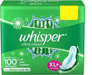 Whisper Ultra Clean Xl Sanitary Pads 44 Pads