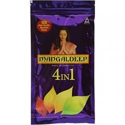 Mangaldeep 4in1 Puja Agarbatties 120Pcs