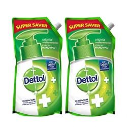 Dettol Original Germ Protection Liquid Handwash Refill 750ml Pack Of 2Pcs