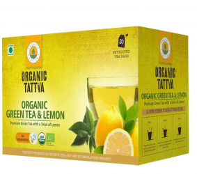 Organic Tattva Green Tea & Lemon 40g