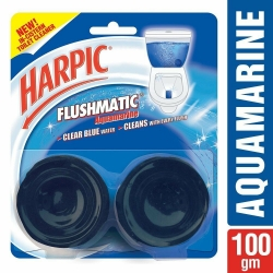 Harpic Flushmatic InCistern Toilet Cleaner Aquamarine 100g