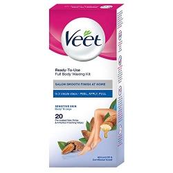 Veet Full Body Waxing Kit For Sensitive Skin 20Pcs