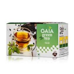 Gaia Green Tea Tulsi 25 Bags