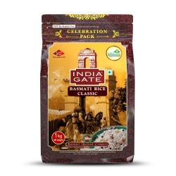 India Gate Basmati Rice Pouch Classic 1kg
