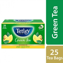 Tetley Green Tea Bags Ginger Mint Lemon 25 Tea Bags