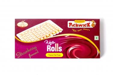 Pickwick Wafer Rolls Strawberry 50g