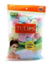 Tulips Cotton Balls Colors 50pcs