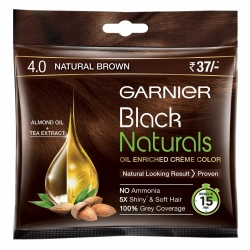 Garnier Black Naturals Shade 4 Natural Brown 20ml+20g