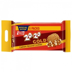 Parle 20-20 Gold Cashew Almond Cookies 600g